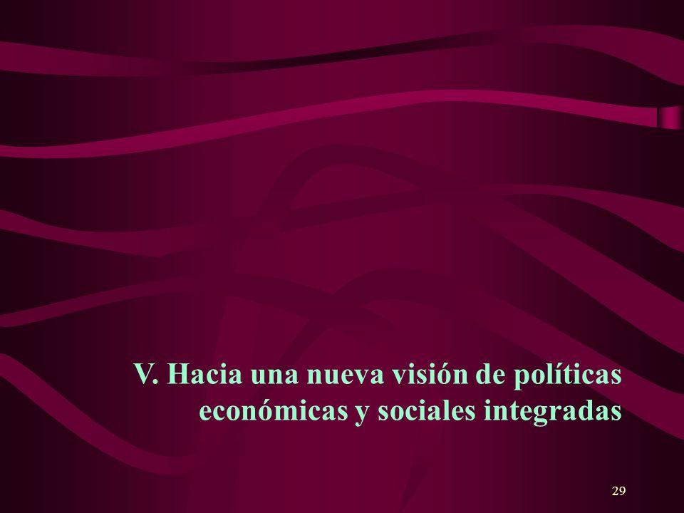 29 V. Hacia una nueva visión de políticas económicas y sociales integradas
