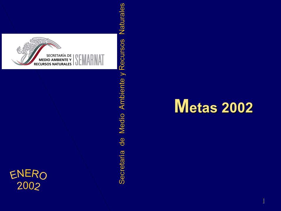 Secretaría de Medio Ambiente y Recursos Naturales M etas 2002 1 1