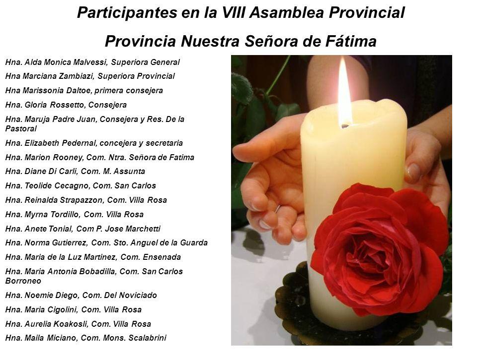Participantes en la VIII Asamblea Provincial Provincia Nuestra Señora de Fátima Hna.