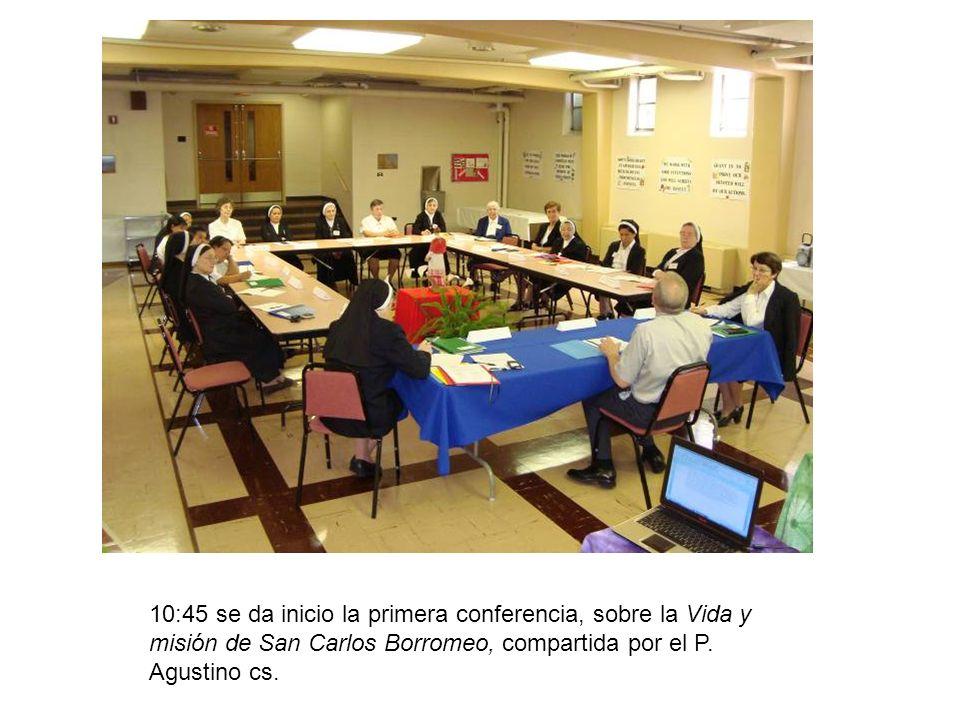 Por la tarde se retomo el tema de la vida y misión de san Carlos Borroneo, para después hacer un plenario y buscar los elementos mas significativos de la vida se San Carlos para reafirmar nuestra identidad Scalabriniana.