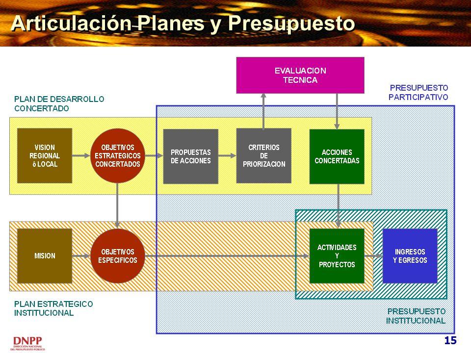 Articulación Planes y Presupuesto 15