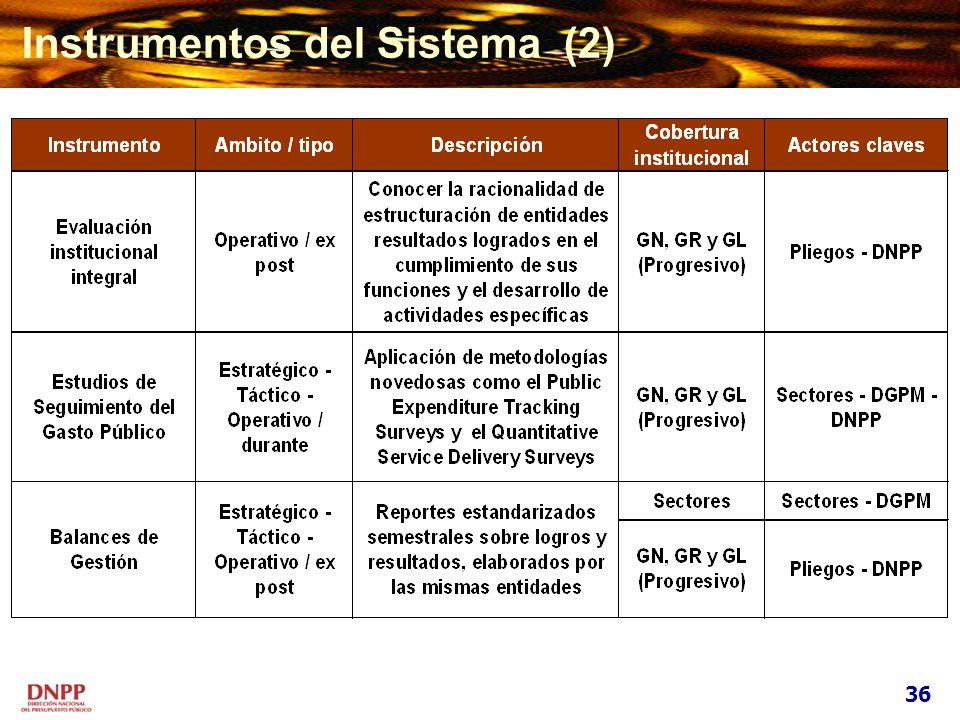 Instrumentos del Sistema (2) 36