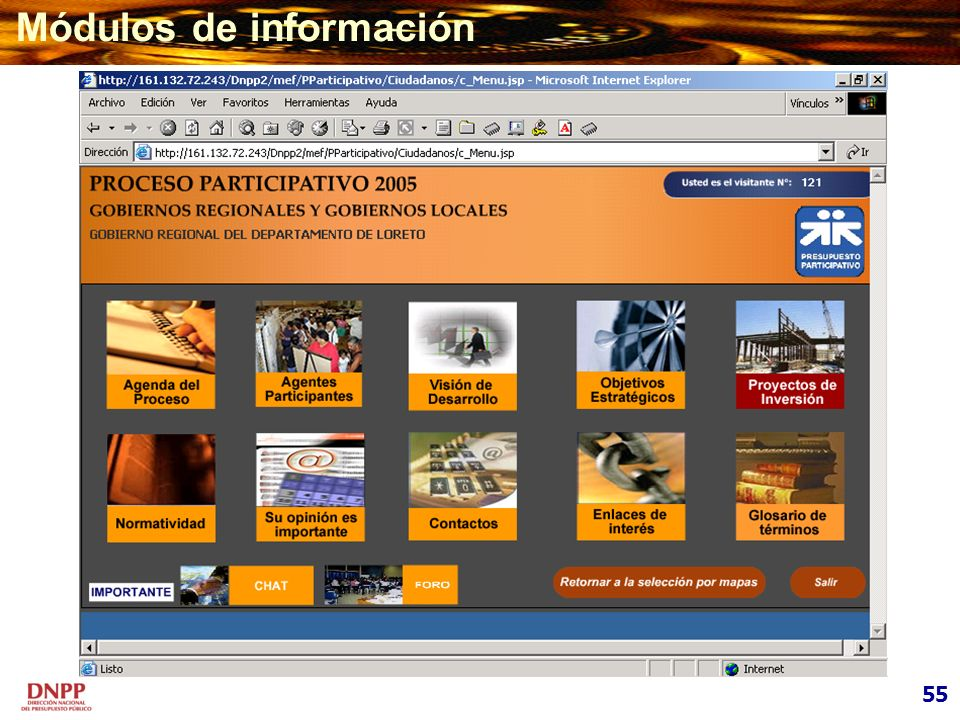 Módulos de información 55