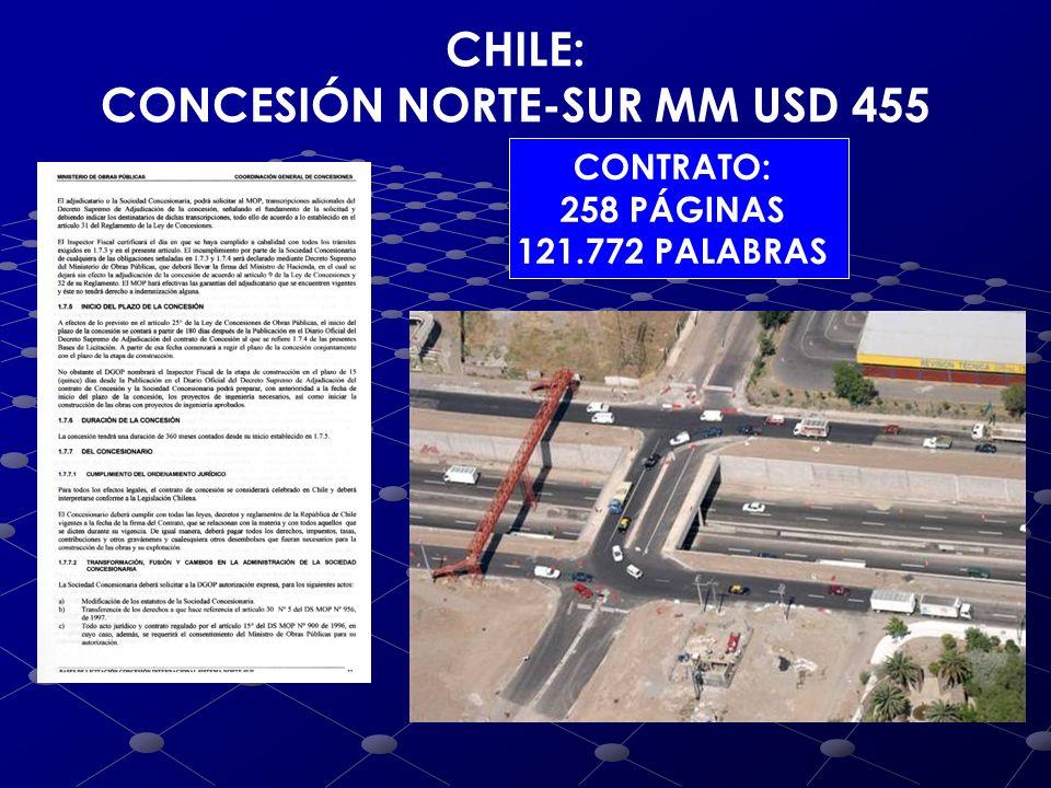 ARGENTINA: CONCESIÓN ACCESO B.AIRES MM USD 467 CONTRATO: 36 PÁGINAS DOBLE ESPACIO