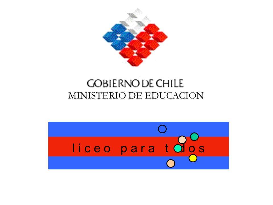 l i c e o p a r a t d o s MINISTERIO DE EDUCACION
