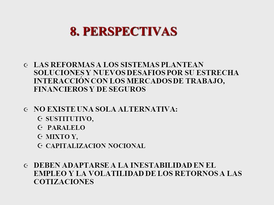7.4 ALTAS COMISIONES PORCENTUALES Fuente: Boletín Estadístico AIOS número 8, diciembre 2002