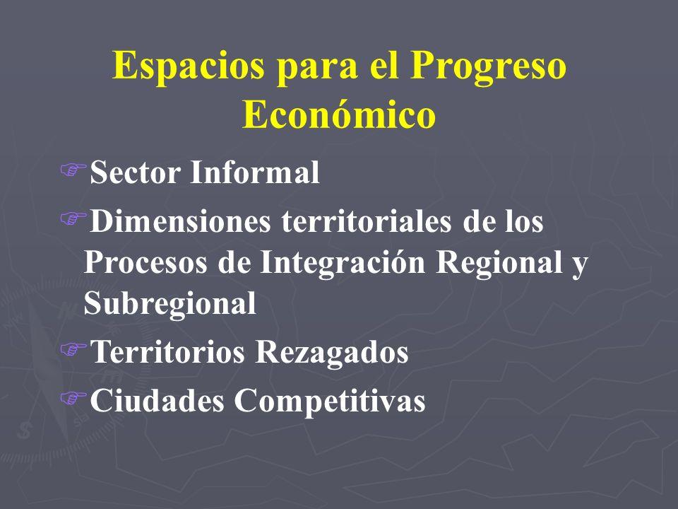 Espacios para el Progreso Económico FSector Informal FDimensiones territoriales de los Procesos de Integración Regional y Subregional FTerritorios Rez