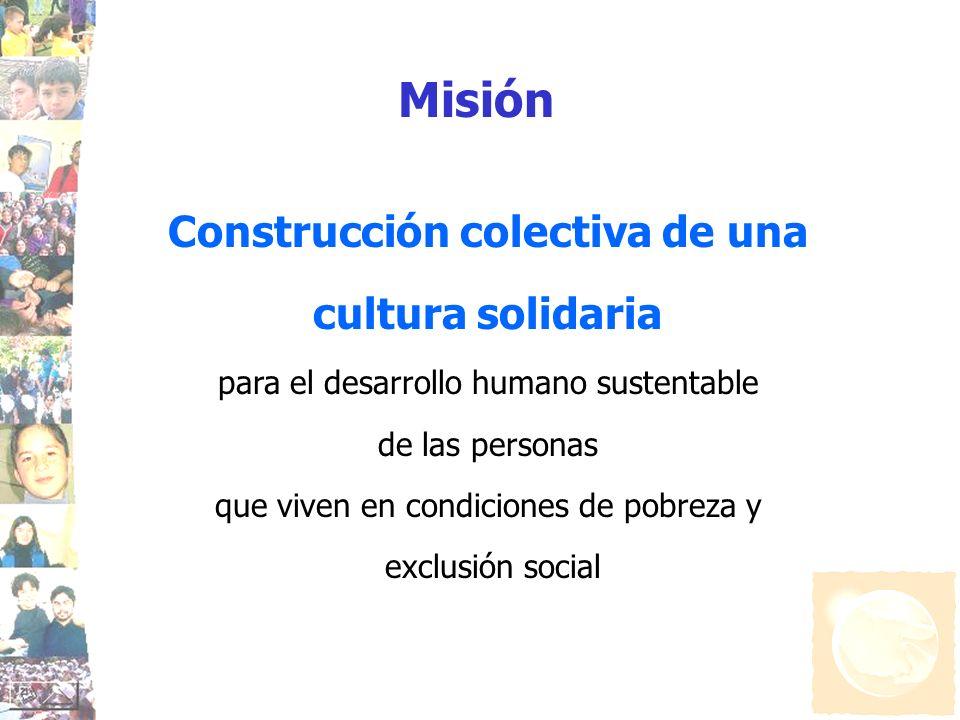 Construcción colectiva de una cultura solidaria para el desarrollo humano sustentable de las personas que viven en condiciones de pobreza y exclusión
