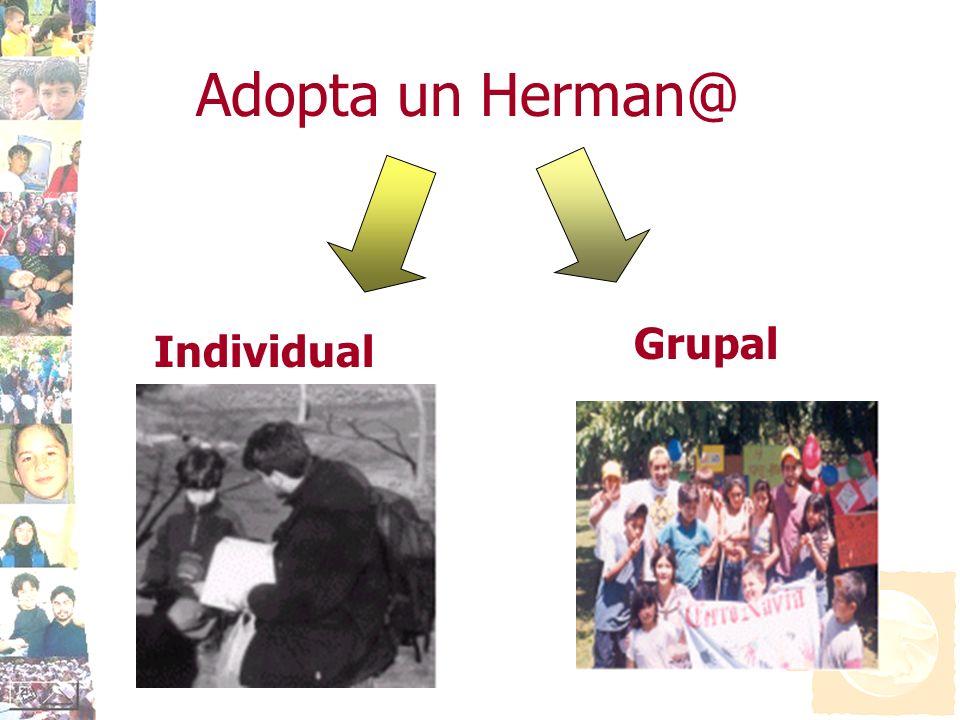 Adopta un Herman@ Individual Grupal