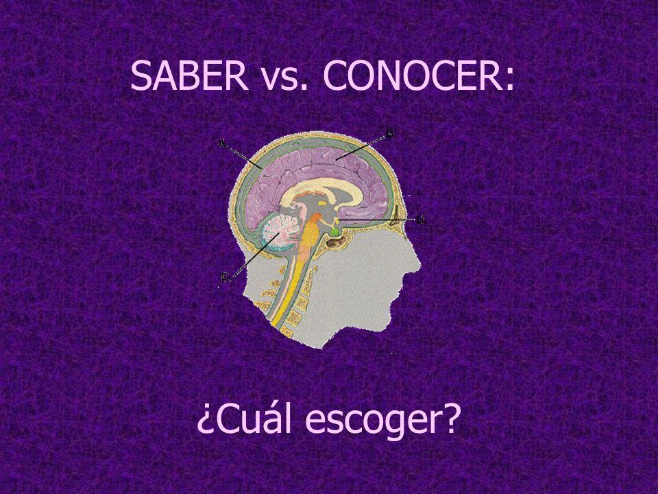 SABER vs. CONOCER: ¿Cuál escoger?