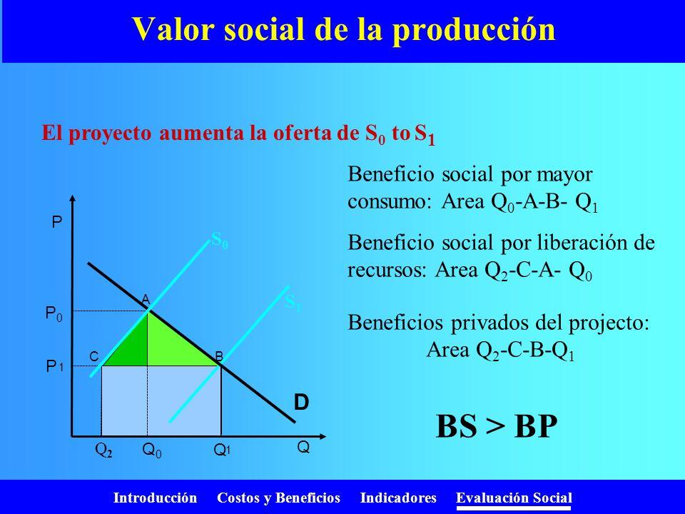 Introducción Costos y Beneficios Indicadores Evaluación Social ¿Porqué requerimos la evaluación social? Los precios mienten! –N–No reflejan el verdade