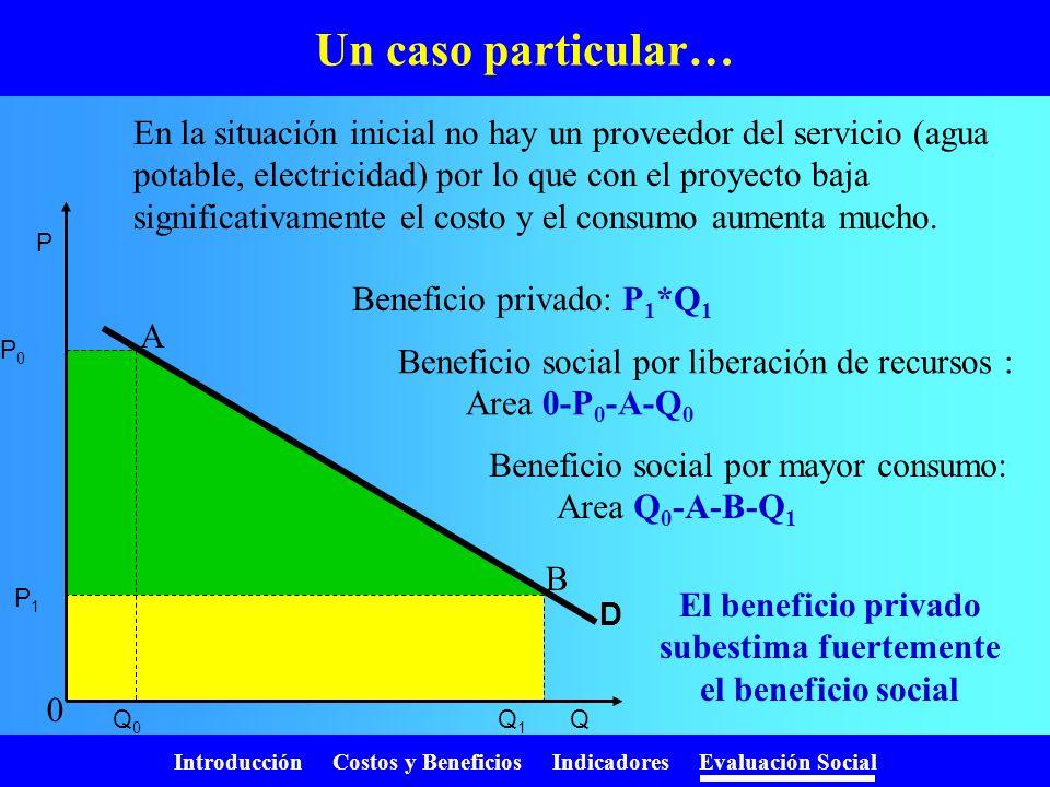 Introducción Costos y Beneficios Indicadores Evaluación Social En la práctica ….. S CP P 0 D P0P0 S P1P1 P 0 D P0P0 S D CP P1P1 Si el proyecto es pequ
