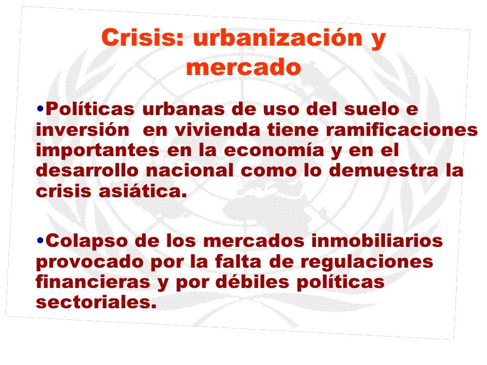 Crisis: urbanización y mercado Políticas urbanas de uso del suelo e inversión en vivienda tiene ramificaciones importantes en la economía y en el desa