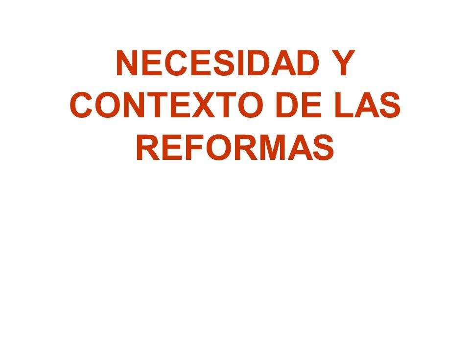 Tendencias de las Reformas Una nueva mezcla pública-privada: –En los noventa se ha incorporado de manera activa la participación del sector privado tanto en el financiamiento como en la provisión de servicios.