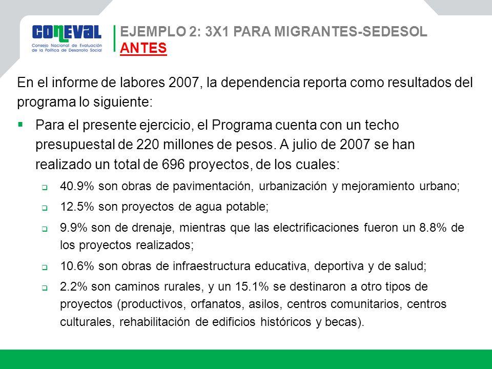 En el informe de labores 2007, la dependencia reporta como resultados del programa lo siguiente: Para el presente ejercicio, el Programa cuenta con un
