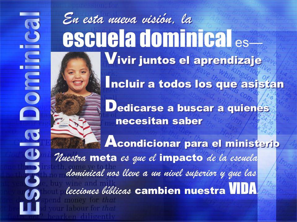 Dios quiere que lo conozcamos La escuela dominical ayuda a personas de toda edad a conocer a Dios y a vivir de manera que lo complazca.