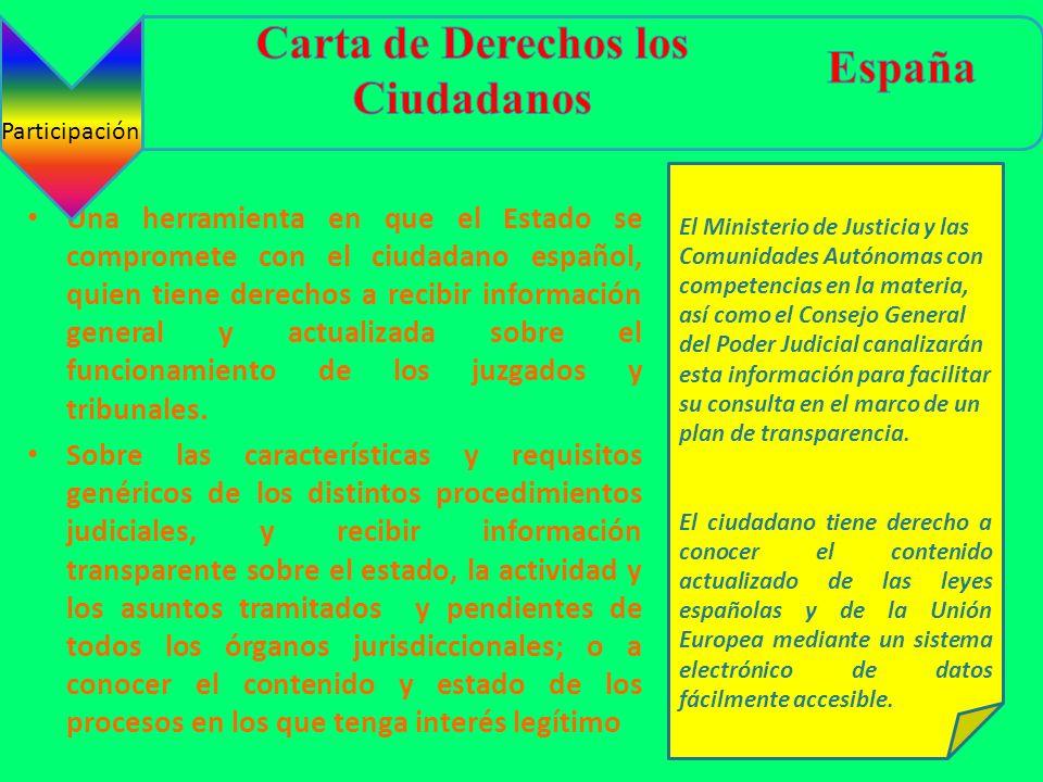 Una herramienta en que el Estado se compromete con el ciudadano español, quien tiene derechos a recibir información general y actualizada sobre el fun