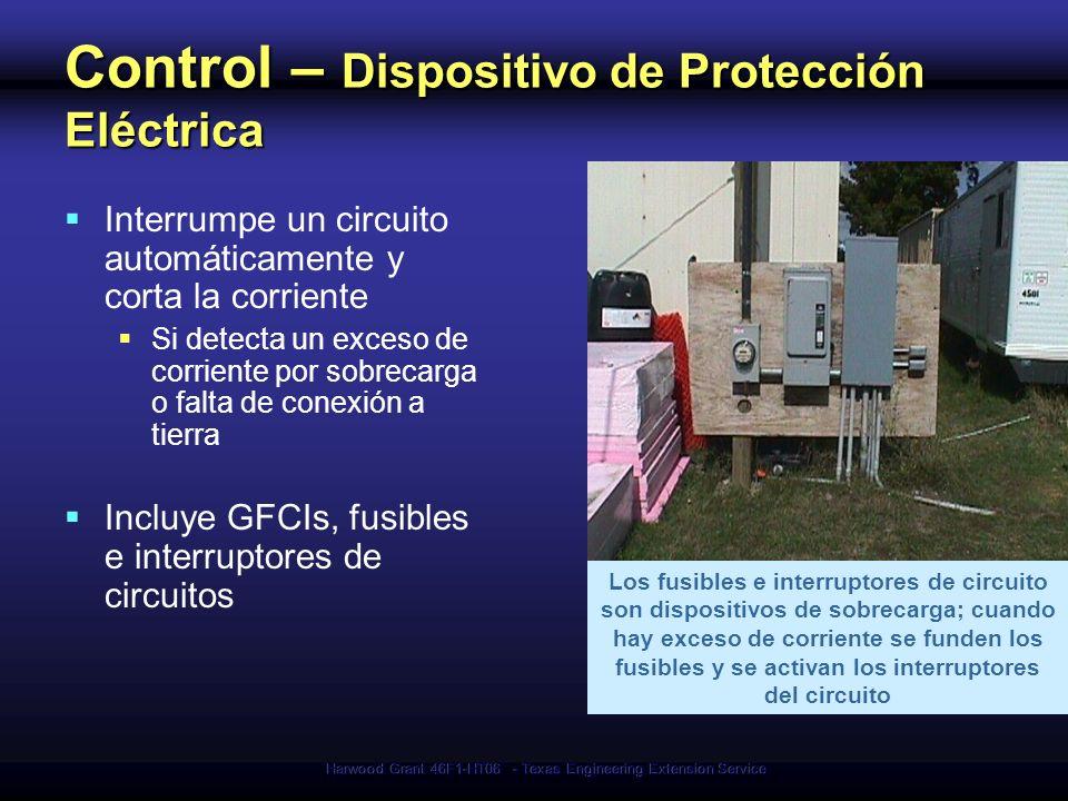 Harwood Grant 46F1-HT06 - Texas Engineering Extension Service Control – Dispositivo de Protección Eléctrica Interrumpe un circuito automáticamente y c