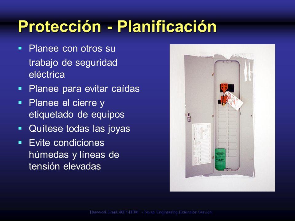Harwood Grant 46F1-HT06 - Texas Engineering Extension Service Protección - Planificación Planee con otros su trabajo de seguridad eléctrica Planee par