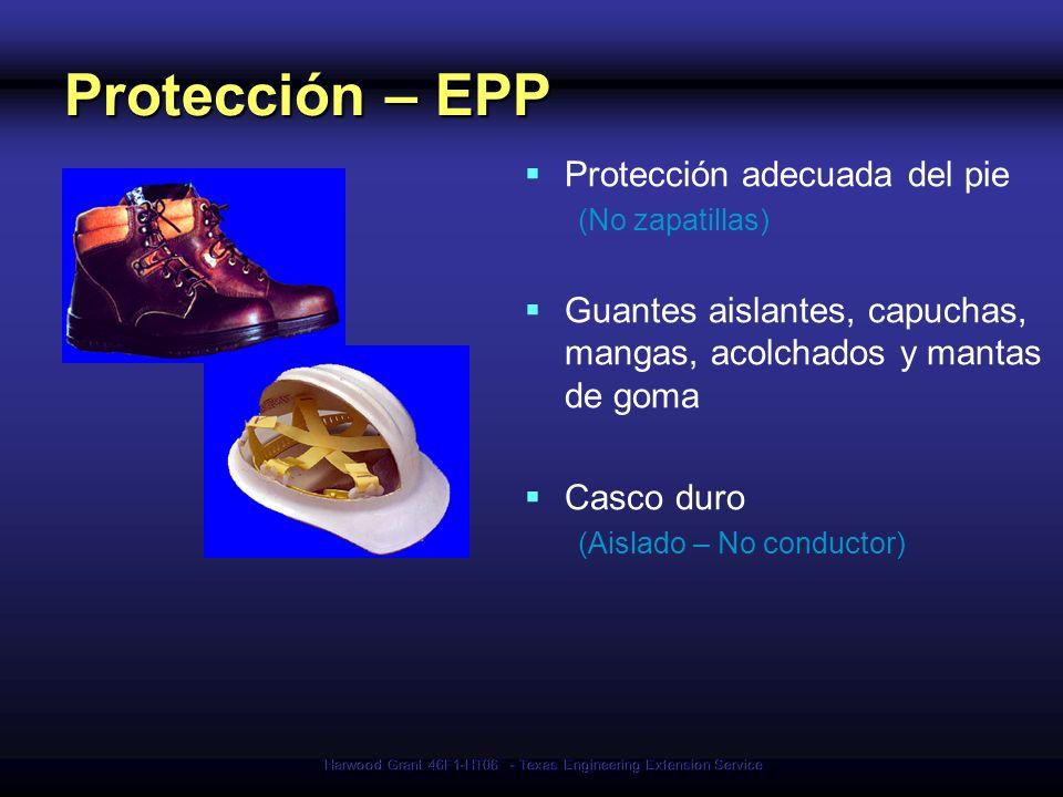 Harwood Grant 46F1-HT06 - Texas Engineering Extension Service Protección – EPP Protección adecuada del pie (No zapatillas) Guantes aislantes, capuchas