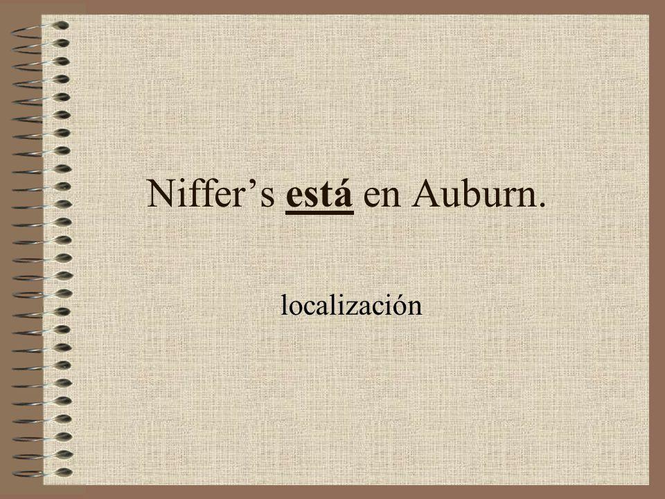 Niffers _____en Auburn.