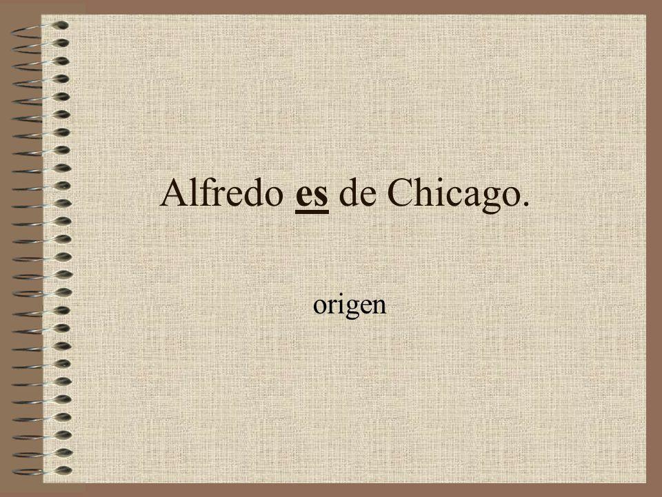 Alfredo es de Chicago. origen