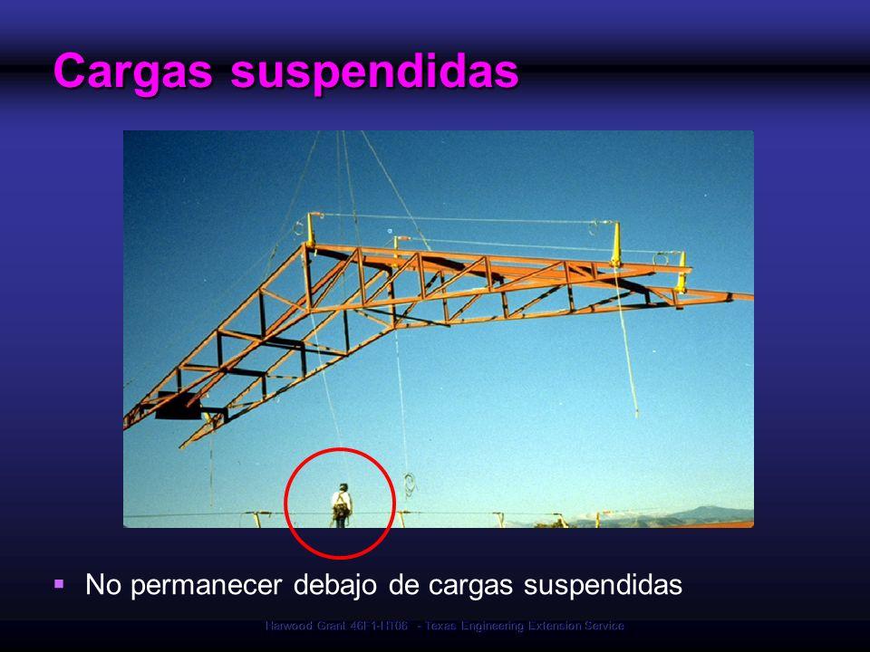 Harwood Grant 46F1-HT06 - Texas Engineering Extension Service Cargas suspendidas No permanecer debajo de cargas suspendidas