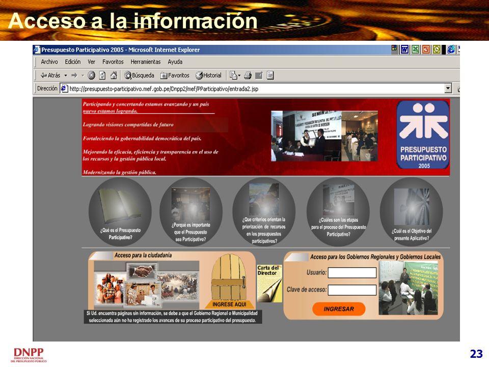 Acceso a la información 23