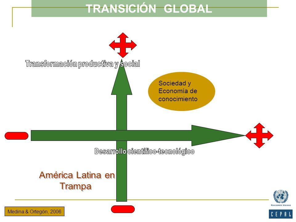 TRANSICIÓN GLOBAL Medina & Ortegón, 2006 Sociedad y Economía de conocimiento