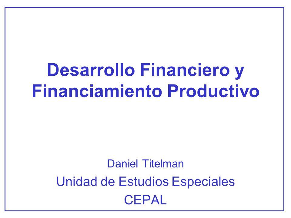 ALGUNAS CONCLUSIONES La liberalización financiera no es suficiente.