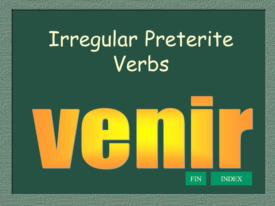 Irregular Preterite Verbs FININDEX