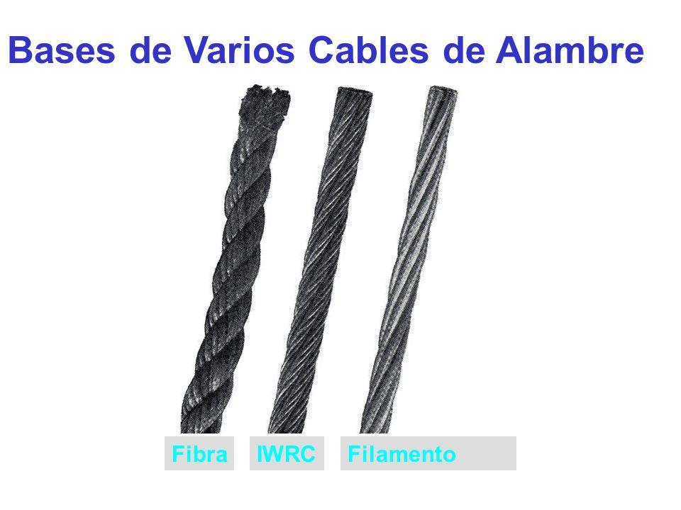 Bases de Varios Cables de Alambre FibraIWRCFilamento