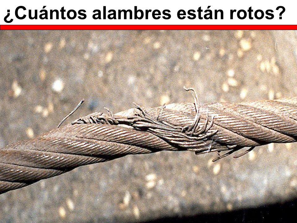 ¿Cuántos alambres están rotos?