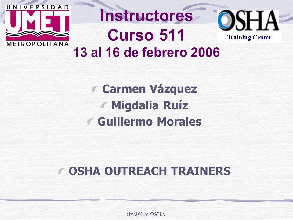 clv/30hrs.OSHA Proceso de Inspección
