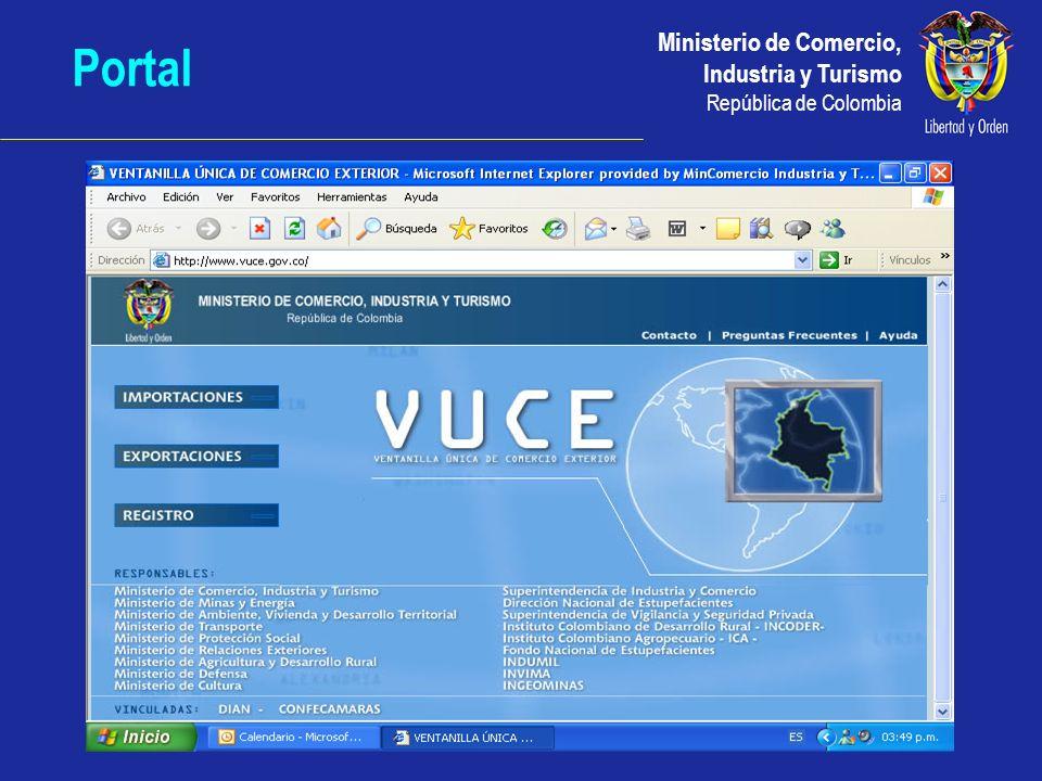 Ministerio de Comercio, Industria y Turismo República de Colombia Portal