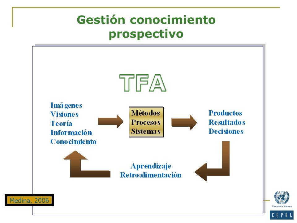 Gestión conocimiento prospectivo Medina, 2006