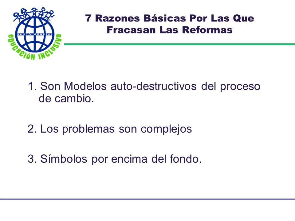 7 Razones Básicas Por Las Que Fracasan Las Reformas 1.