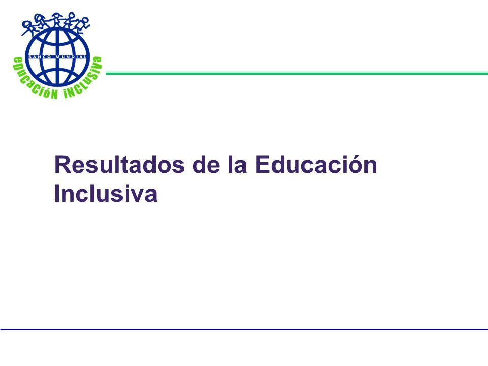 Resultados de la Educación Inclusiva