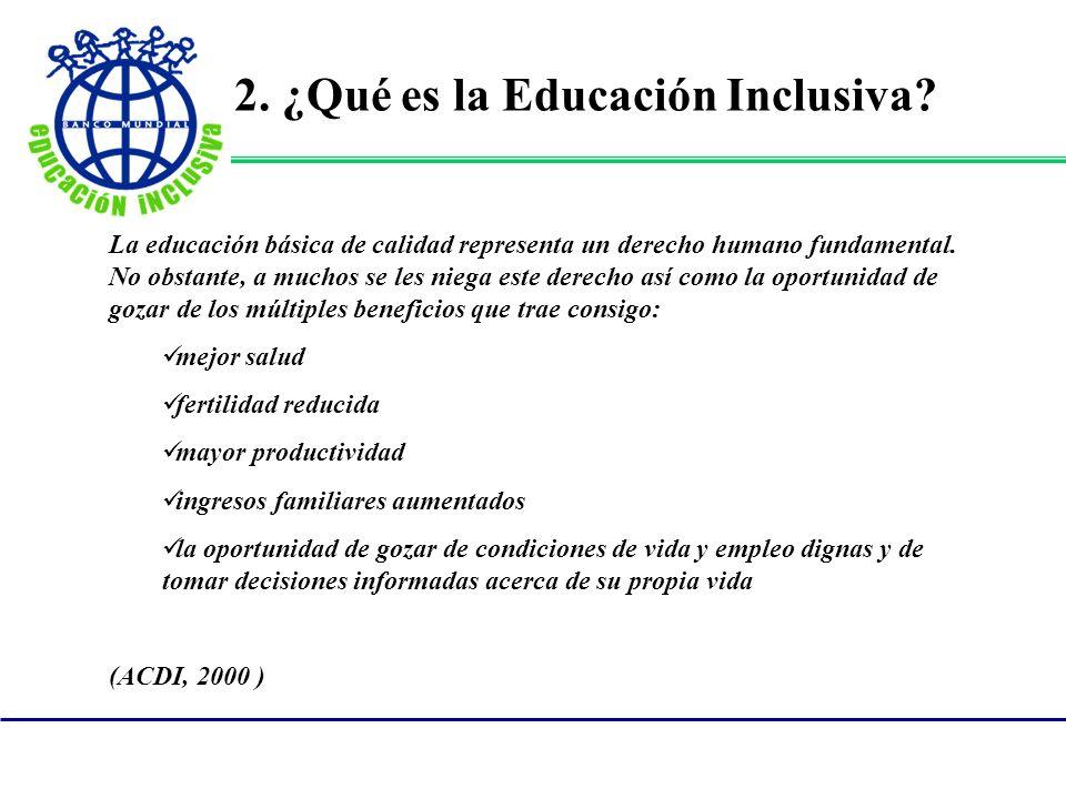 La educación básica de calidad representa un derecho humano fundamental.