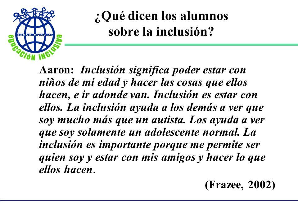 ¿Qué dicen los alumnos sobre la inclusión.