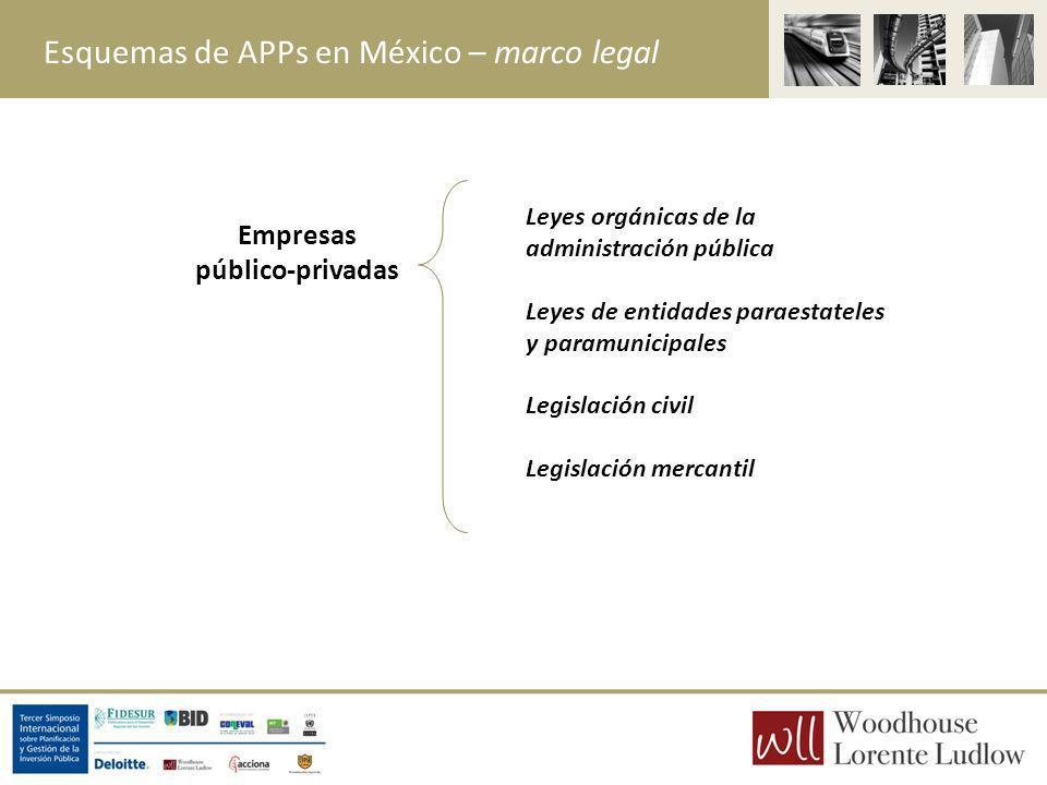 Empresas público-privadas Leyes orgánicas de la administración pública Leyes de entidades paraestateles y paramunicipales Legislación civil Legislació