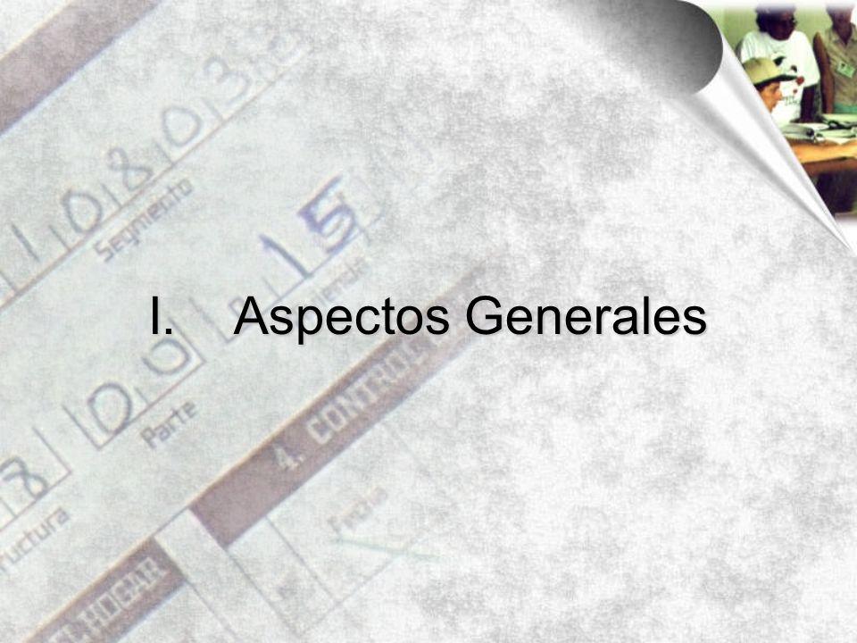 I.Aspectos Generales