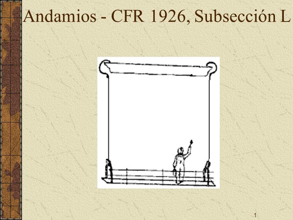 1 Andamios - CFR 1926, Subsección L