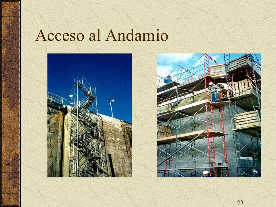 23 Acceso al Andamio