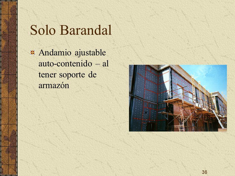 36 Solo Barandal Andamio ajustable auto-contenido – al tener soporte de armazón