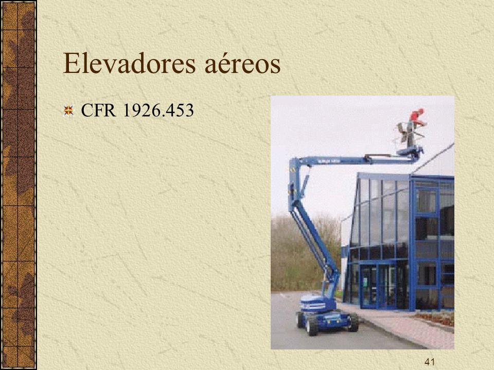 41 Elevadores aéreos CFR 1926.453