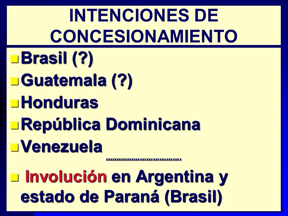 10 REACTIVACIÓN DEL CONCESIONAMIENTO n Chile: proceso sostenido n Colombia: 2 (127 km) n Costa Rica: 5 (283 km) n México: 9 (811 km) n Perú n Chile: proceso sostenido n Colombia: 2 (127 km) n Costa Rica: 5 (283 km) n México: 9 (811 km) n Perú