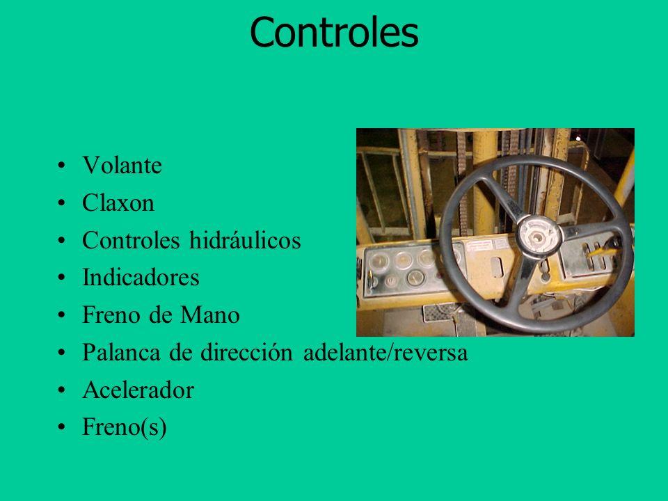 Partes Principales Techo de Protección Contrapeso Llantas de direccion Llantas de tracción Mástil Ganchos Porta-ganchos (caja)