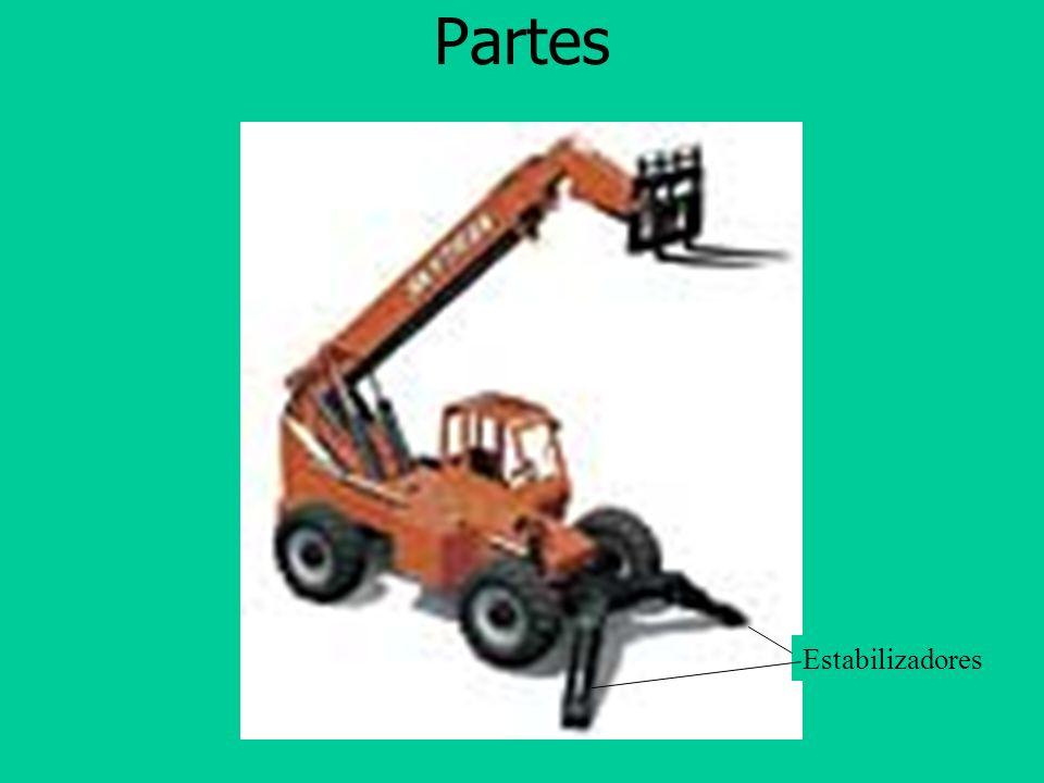 Controles Volante Claxon Controles hidráulicos Indicadores Freno de Mano Palanca de dirección adelante/reversa Acelerador Freno(s)