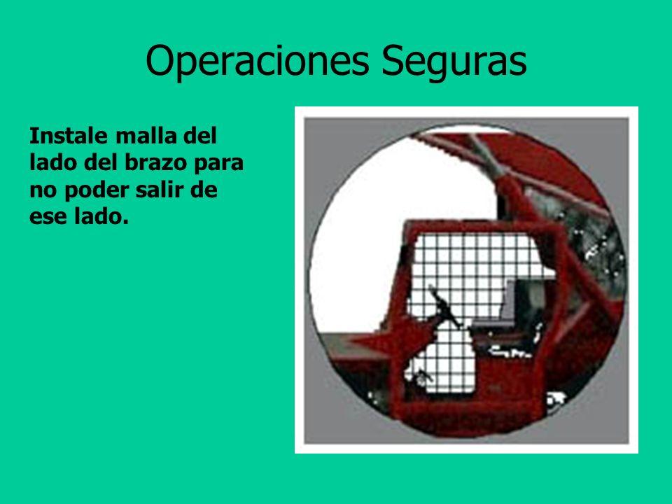 Operaciones Seguras Mire en la dirección de viaje. No saque partes del cuerpo de la cabina.